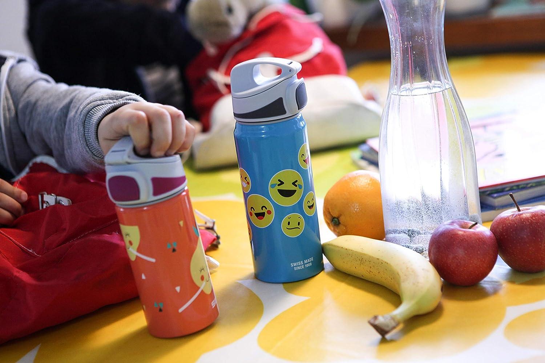 NEU SIGG Trinkflasche Miracle Alu Kids Emoticon türkis 0,6 Liter
