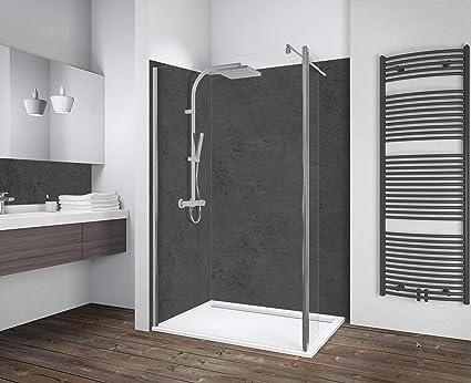 Schulte 80 x 190 cm Mampara de ducha con lateral móvil de 30 cm ...
