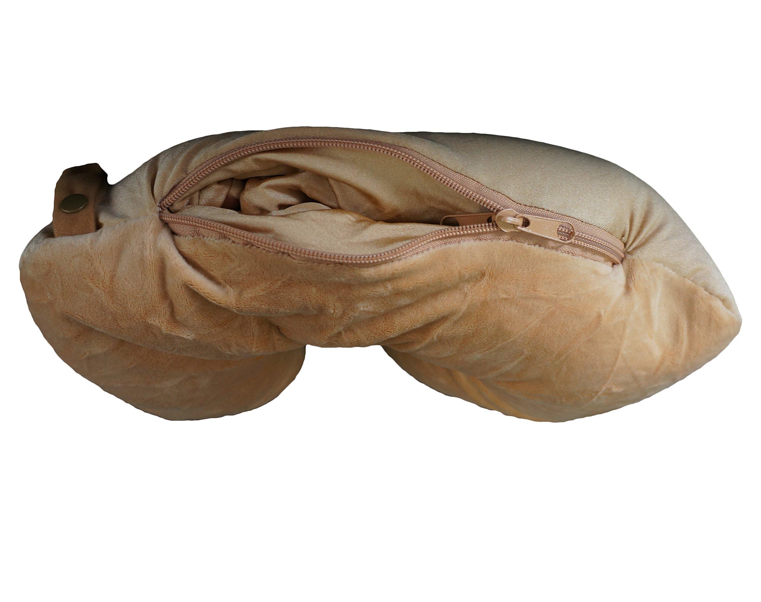 Yzakka Convertible Neck Pillow U Shaped Travel Pillow Stuffed Plush Toy Animal Dog by Yzakka (Image #5)