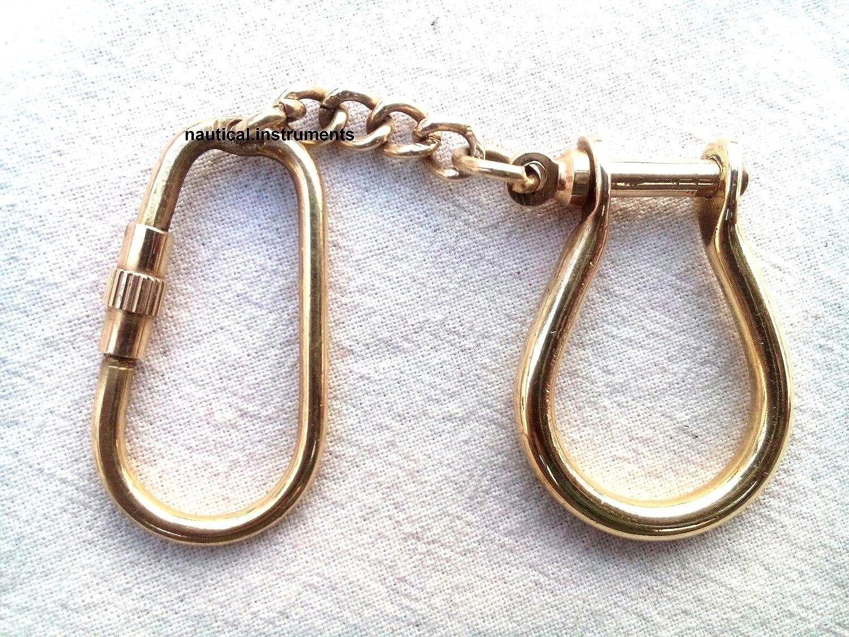 Amazon.com: Grillete de latón llave Chain- Coleccionable ...