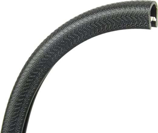 Extra Large black rubber car edge protective trim 13.9mm x 14.8mm