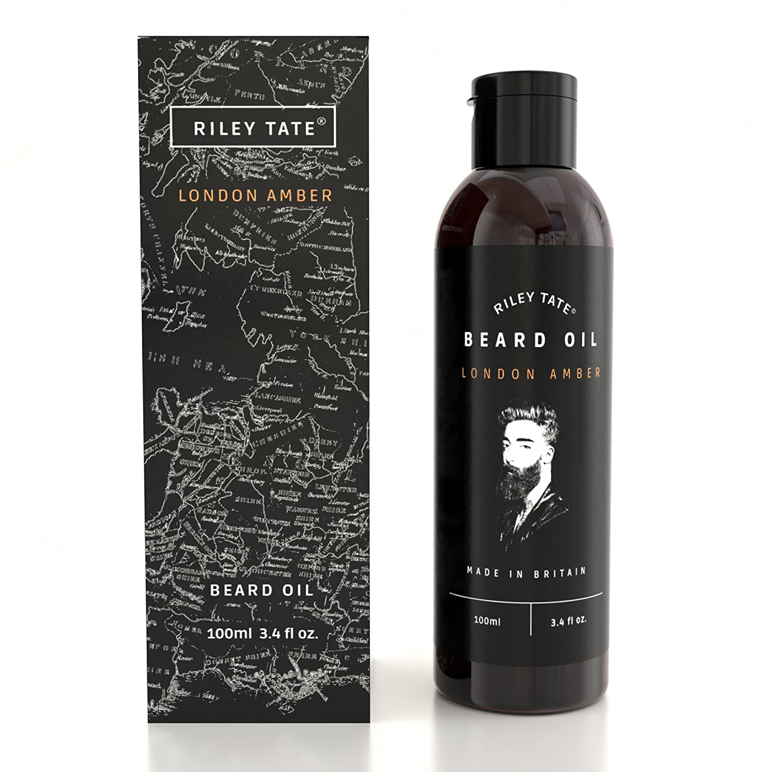 Beard Oil. Extra Large 100ml Bottle. Gives Shine Without Grease, Made Exclusively In The UK - Formulated With Premium Natural Ingredients Riley Tate