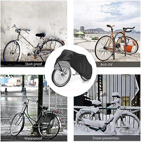 nadamuSun Funda Bicicleta 190T Tafet/án de poli/ésterAnti Polvo Resistente al Agua a Prueba de UV Cubierta Bicicleta para Bicicleta de Monta/ña y Bicicleta de Carretera
