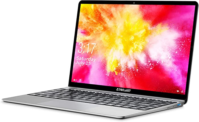 "TECLAST F7 Plus 14.1"" Windows 10 Laptop,7mm Ultra Thin Metal Body,8GB RAM 256GB ROM,1920x1080P FHD IPS Intel Quad Core Laptop Computer Backlit Keyboard Notebook AC WiFi USB3.0 BT4.2 Support Linux"