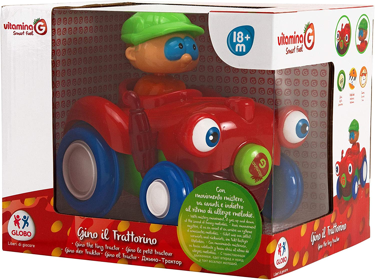 Globo 05155 Vitamina G Tractor Bumo and Go with L//S and Figure Multi-Color