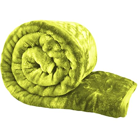 Bliss Home Living Luxury Faux Fur Mink Throw Blanket Soft Warm Thick Bed  Sofa Double King (Green 56f741d2b