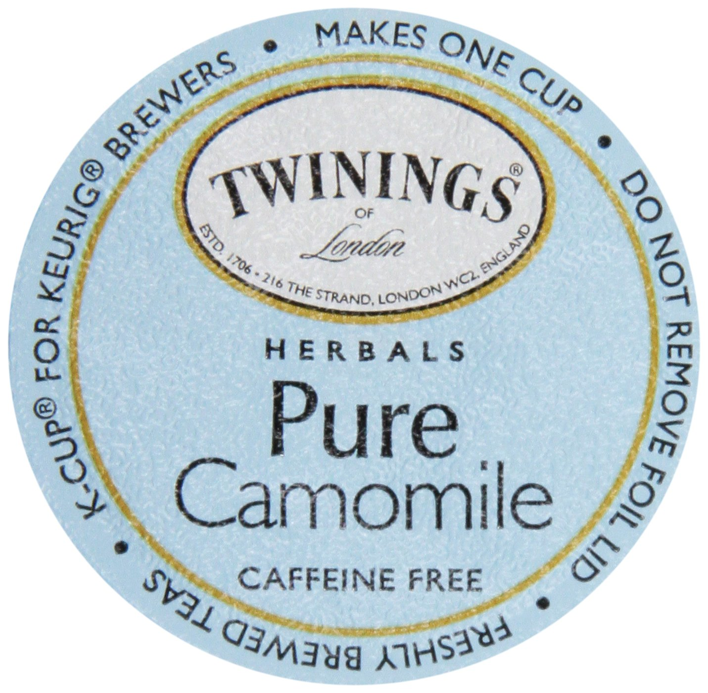 Twinings of London K-Cup Portion Pack for Keurig K-Cup Brewers Pure Camomile Tea, 72 Count (Pack of 6) by Twinings