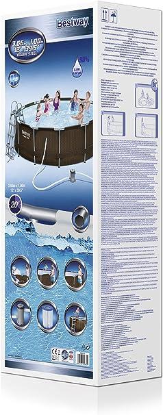 Piscina Desmontable Tubular Bestway Power Steel Diseño Rattan ...