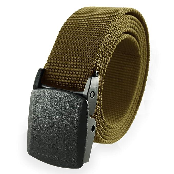 f17e69239 Cinturón de nailon estilo militar americano, talla única, hebilla  desmontable de Thomas Bates - Beige - talla única: Amazon.es: Ropa y  accesorios