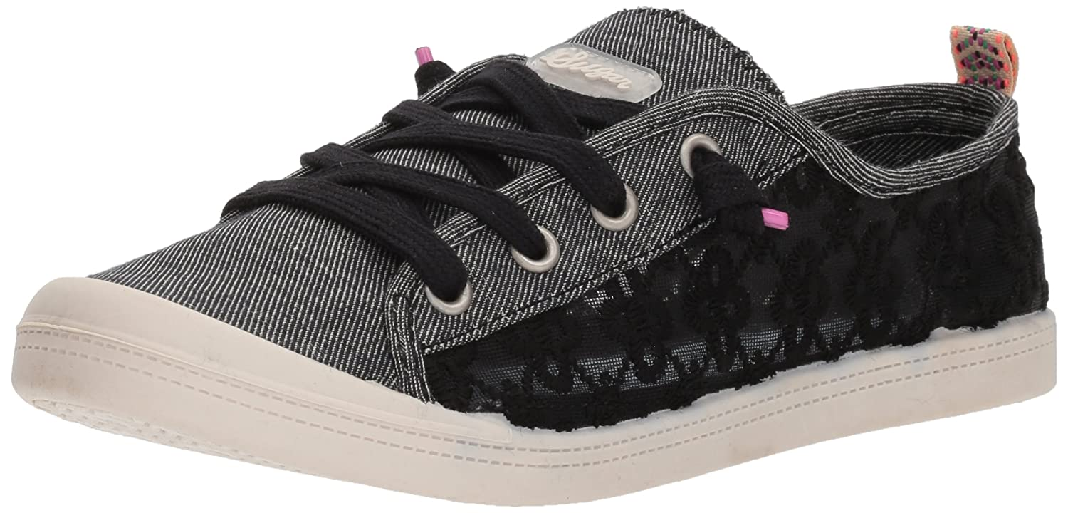 Sugar Women's Genius Casual Fashion Sneaker B0764QS4ZK 7.5 B(M) US|Black Mesh Lace
