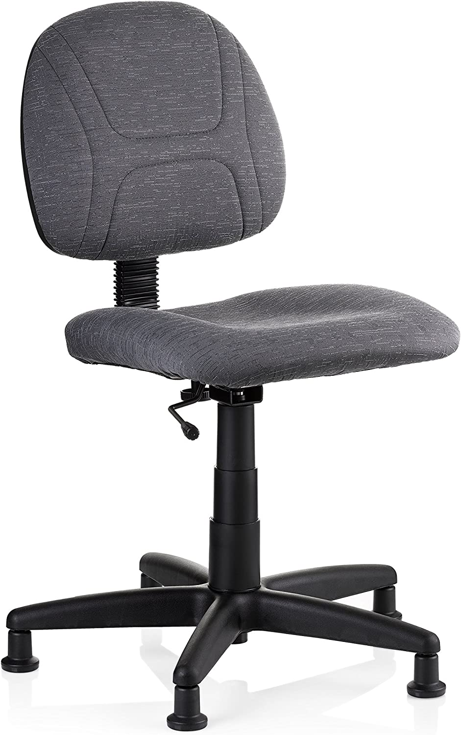 Reliable SewErgo Ergonomic Task Chair With Adjustable Back Sewing Chair, Easy Glide, Height Adjustable, Contoured Cushion, Waterfall Edge Seat, 250Lb Weight Capacity, Heavy Duty Made In Canada