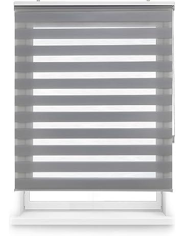 Blindecor Estor Enrollable Doble Tejido Noche y Día, Tela, 160 x 180 cm,