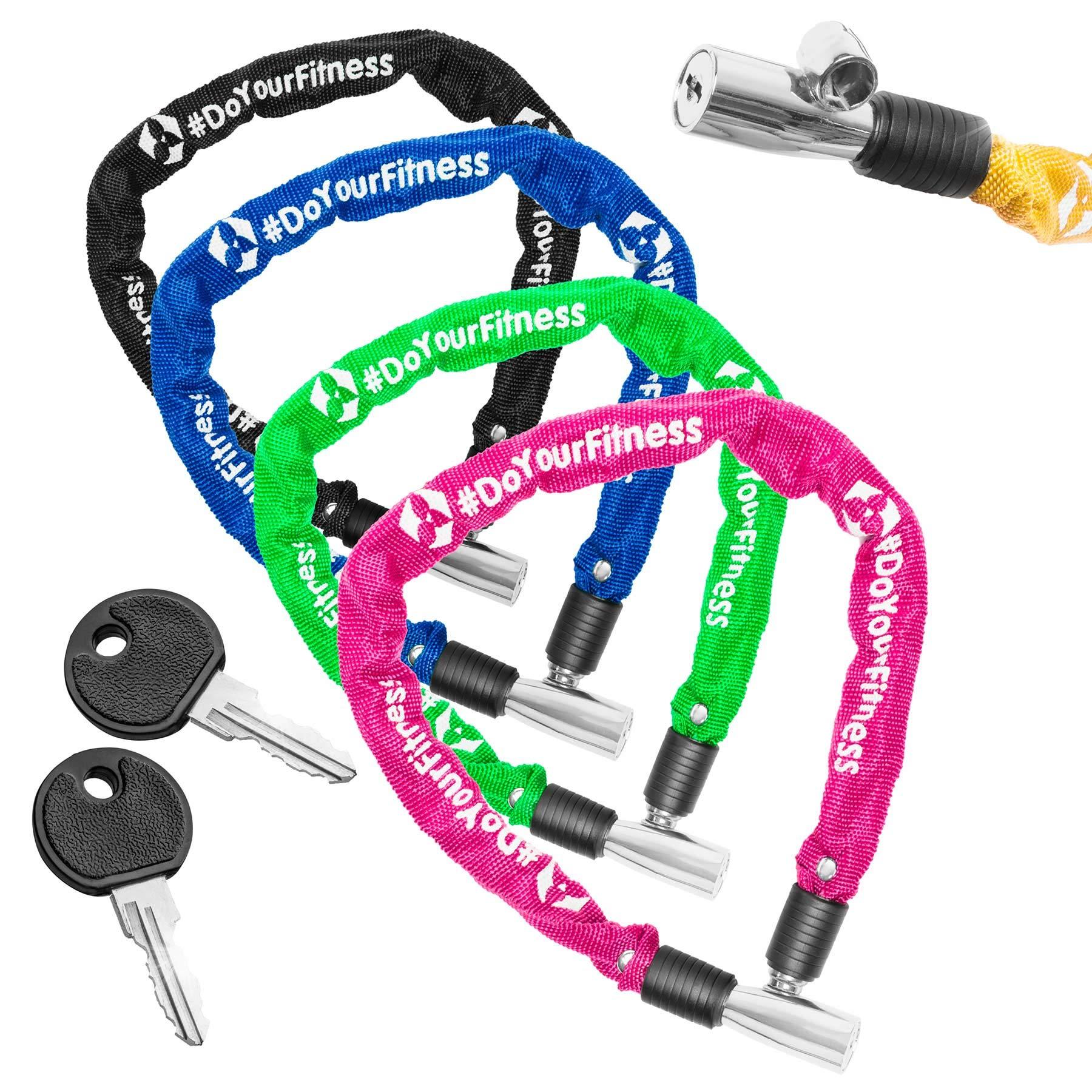 #DoYourFitness Antivol vélo »Guardian«/Antivol à Chaine en aciers clés/env. 60 cm de Long, diamètre env. 20cm, épaisseur env. 3-4mm/idéal vélos d'enfants/Disponible en 5 Couleurs product image