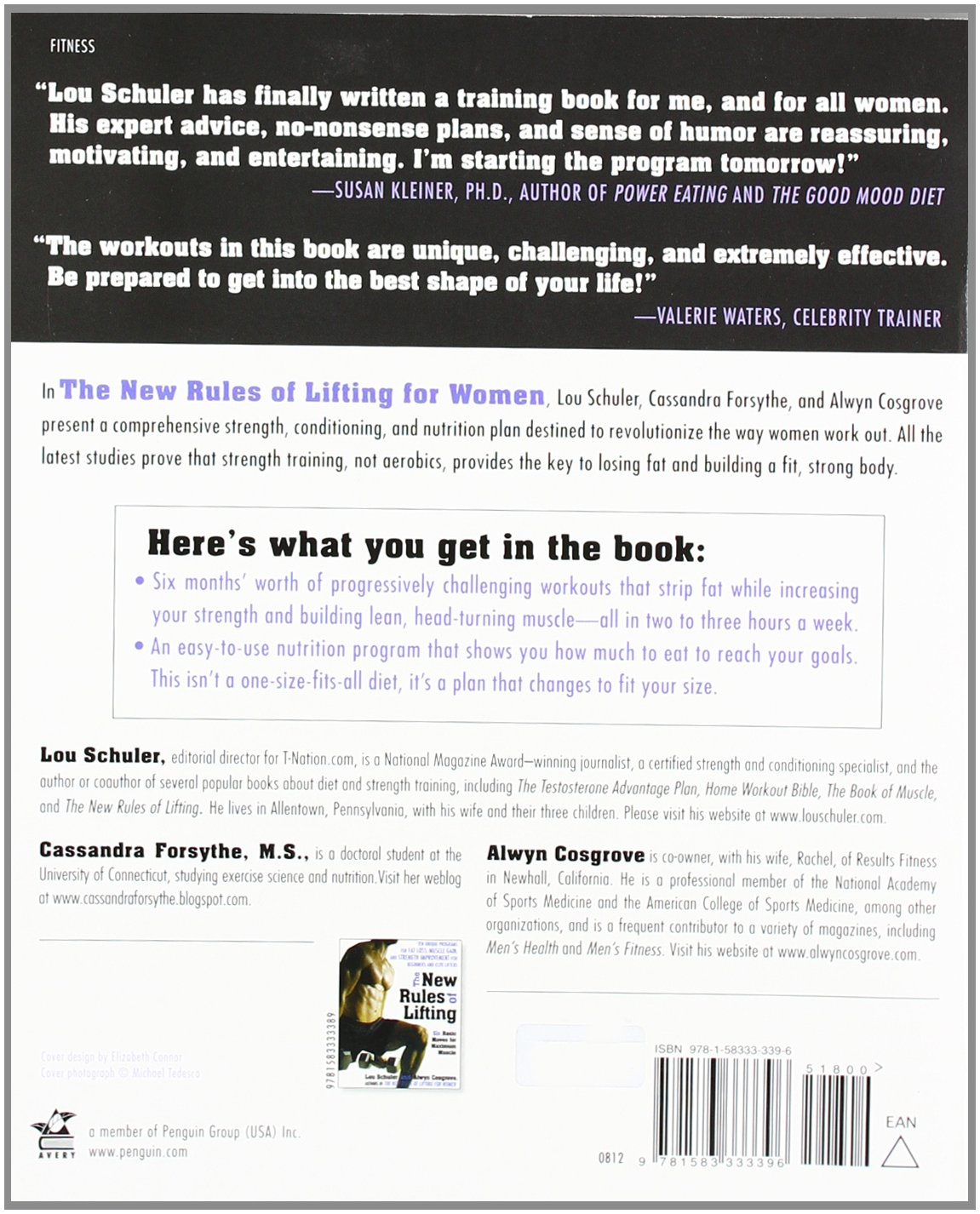 The new rules of lifting for women lift like a man look like a the new rules of lifting for women lift like a man look like a goddess lou schuler cassandra forsythe ms alwyn cosgrove 0735918019003 amazon xflitez Images
