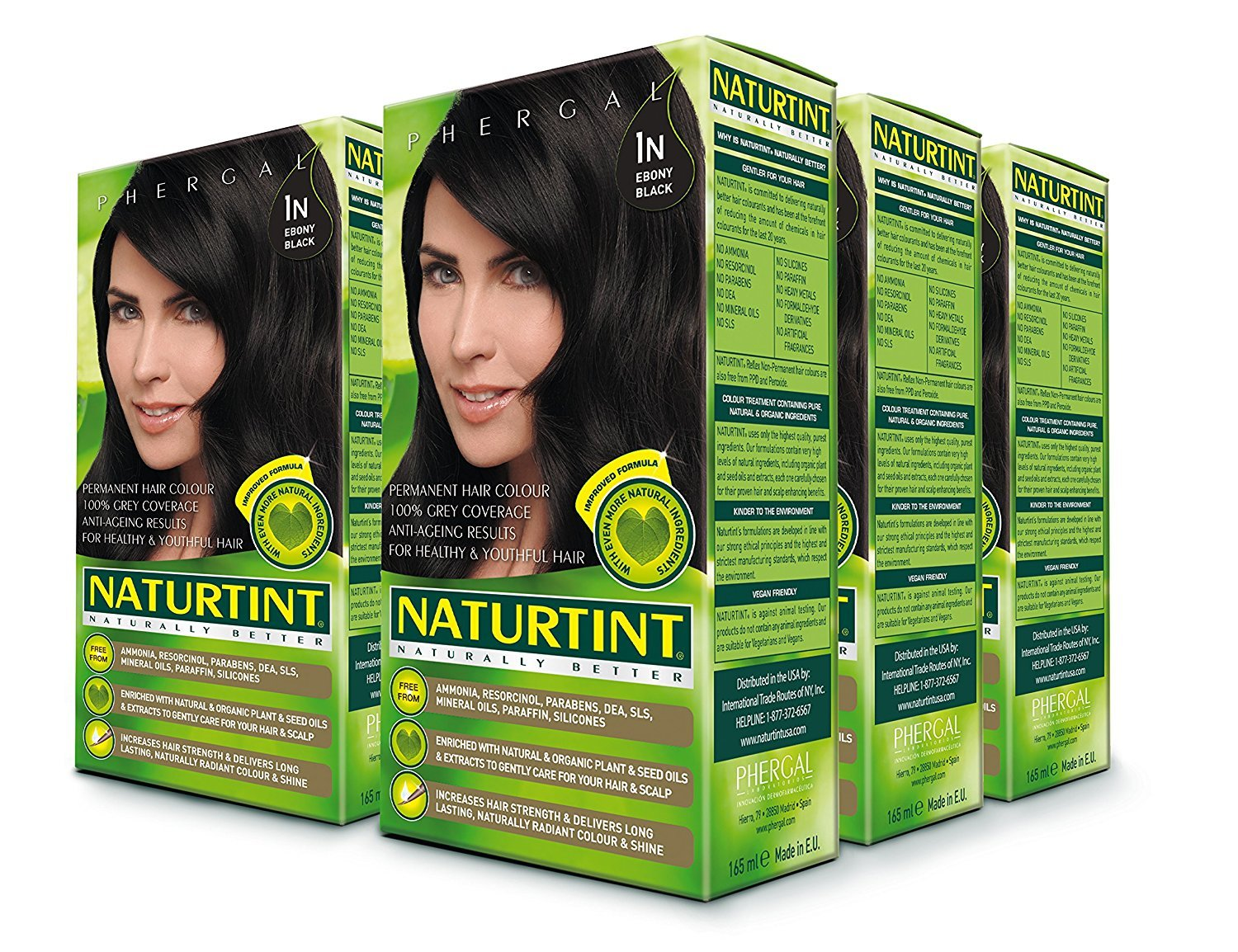 Amazon Com Naturtint Permanent Hair Color 1n Ebony Black Pack Of 6 Ammonia Free Vegan Cruelty Free Up To 100 Gray Coverage Long Lasting Results Chemical Hair Dyes Beauty