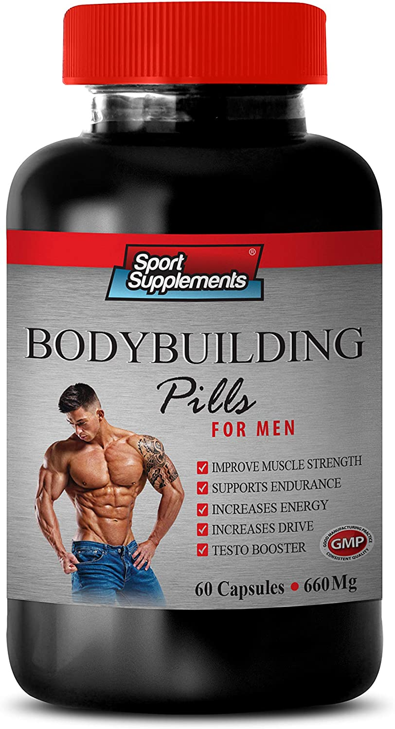 Muscle Building Vitamins Pills For Men Bodybuilding Pills 660 Mg For Men Dhea Complex For Men 1 Bottle 60 Capsules Health Personal Care