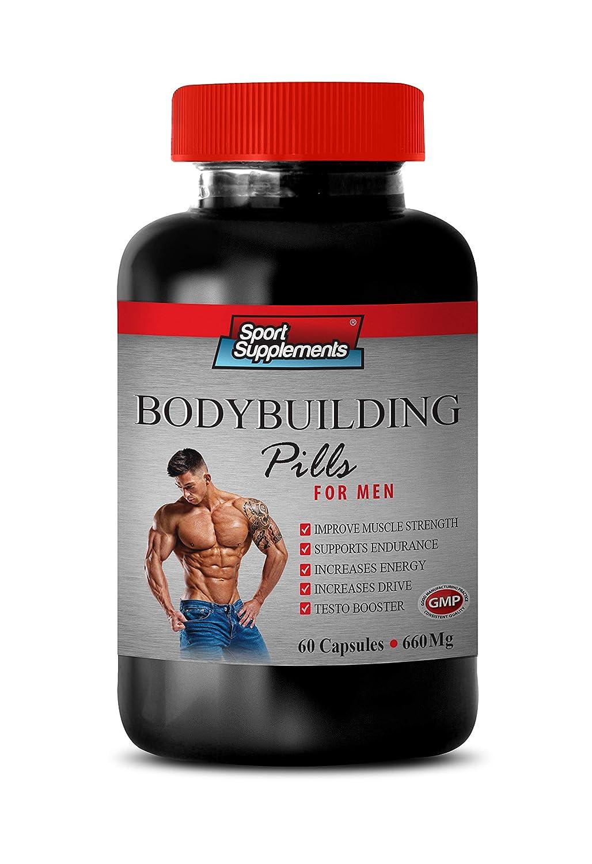 Muscle Building Vitamins Pills for Men - Bodybuilding Pills 660 MG - for Men - dhea Complex for Men - 1 Bottle 60 Capsules