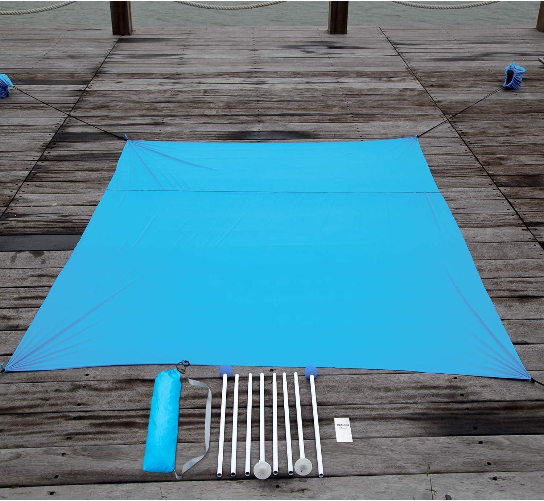 Parques Campamentos y Exteriores Anti UV SPF50 Outwell Tienda de Campa/ñar con Sacos de Arena Ancla Gran Sombrilla de Playa para Ni/ños y Familias en la Playa MENCOM Tienda de Campa/ña