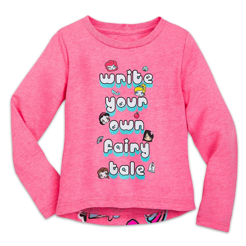 Disney Princess Faces Icons T-Shirt Girls Pink