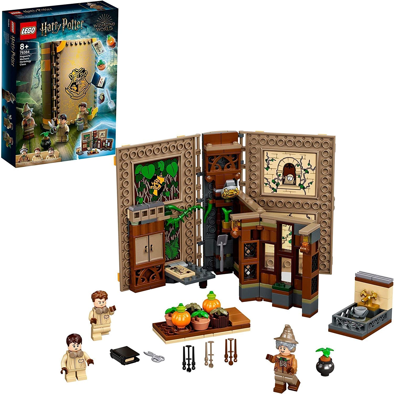 LEGO 76384 Harry Potter Momento Hogwarts: Clase de Herbología, Libro de Juguete Coleccionable, Set Portátil, Estuche de Viaje