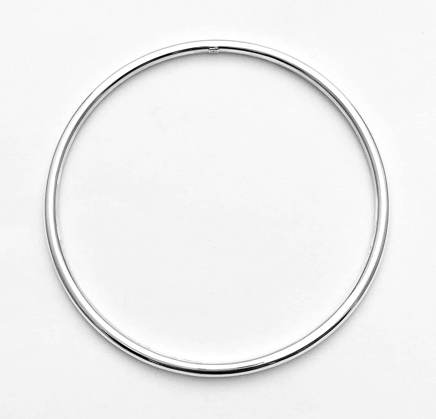 Silver Bangle Silver Bangle 925 Sterling Silver Inner Size 65 mm