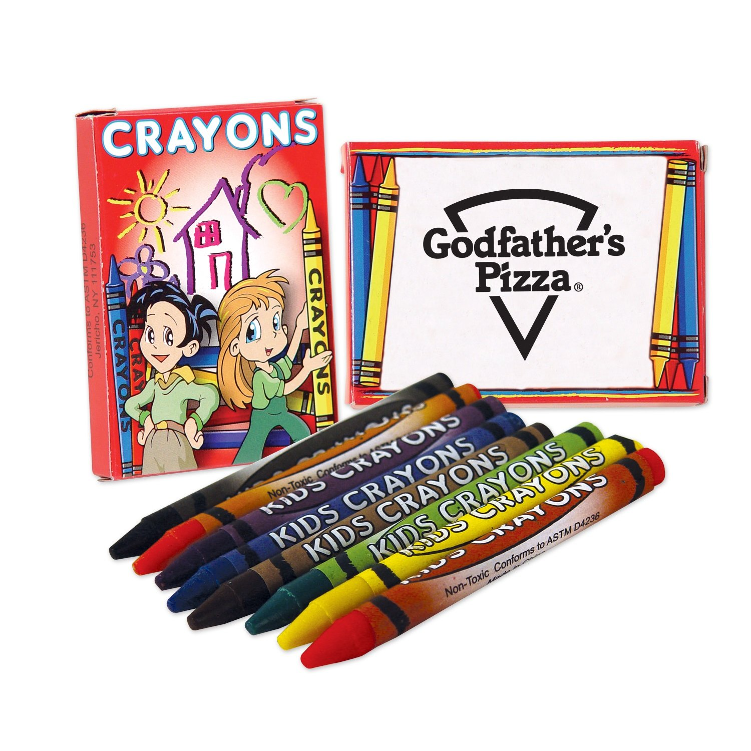 300 Personalized 8 Pack Kids Crayons Printed with Your Logo or Message