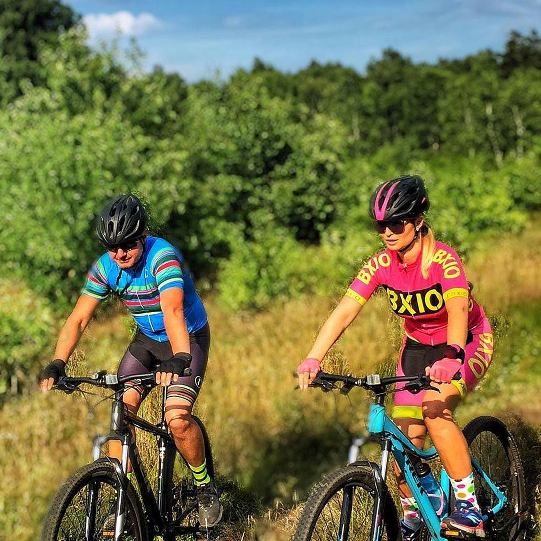 BXIO Mujeres Ropa Ciclismo Pro Jerseys del Equipo de la Bicicleta 166