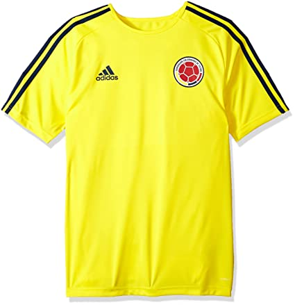 adidas World Cup Soccer Colombia Mens Soccer Colombia Home Fanshirt, Large, Yellow/Collegiate