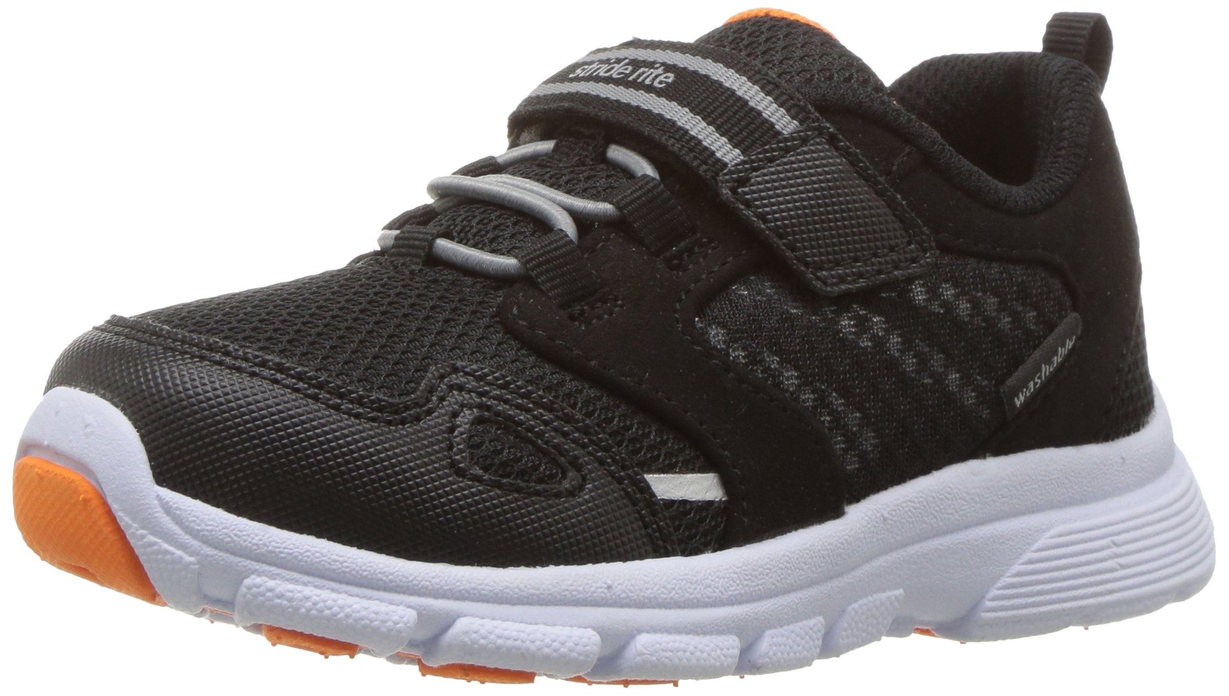 Stride Rite Boys' Made 2 Play Taylor Sneaker, Black/White 7 M US Toddler