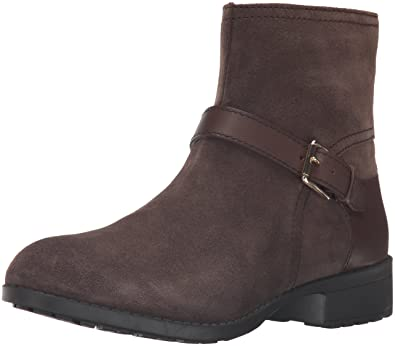 Cole Haan Women's Marla WP Ankle Bootie, Dark Taupe WP Suede/Dark Taupe  Leather