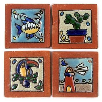 Mexikanische ReliefFliesen Xcm Mit Kaktus Papagei Fisch - Mosaik fliesen frostfest