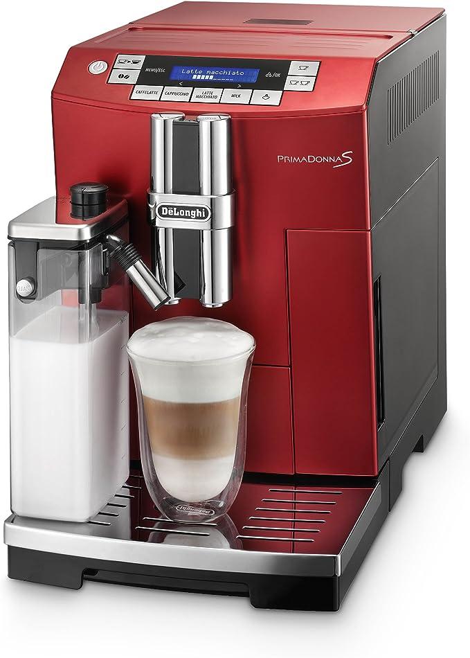 DeLonghi PrimaDonnaS - Cafetera automática, 1450 W, 2 L, color rojo: Amazon.es: Hogar