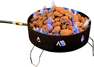 Stansport 088 Propane Fire Pit-with Lava Rocks, One Size, Black