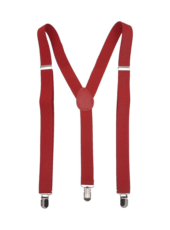 Positive Brands Men's Suspenders - Adjustable Y Back - 3 Clips Strong Hold