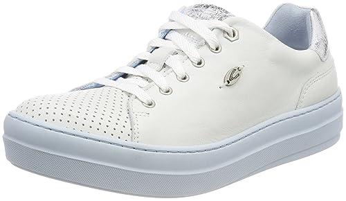 Camel Active Top 81, Zapatos De Cordones para Mujer, Blanco (White/Silver Aqua), 42 EU