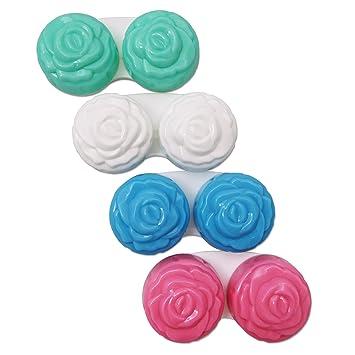 4 x Estuches para Lentes de Contacto ~ Set de Cuatro Colores ...
