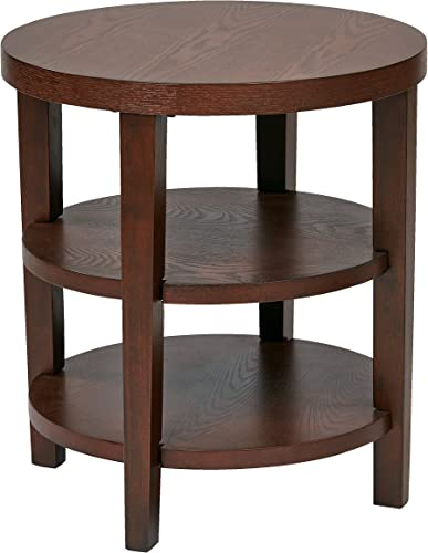 OSP Home Furnishings Merge end Table, 20 , Espresso