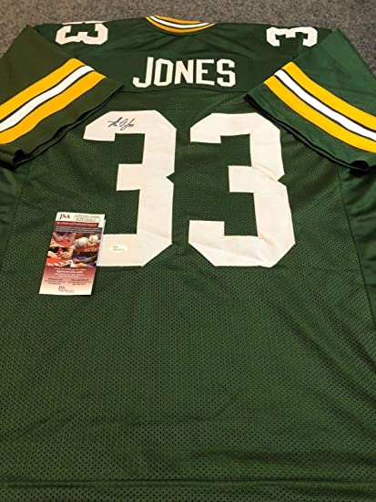100% authentic 65eb5 d38e5 G.B. PACKERS AARON JONES AUTOGRAPHED SIGNED JERSEY JSA COA ...