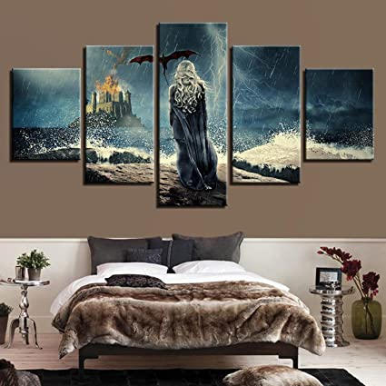 Genial Modern Canvas Paintings Modular Wall Art Framework 5 Pieces Game Of Thrones Posters  Living Room Home