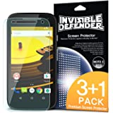 Moto E 1st Gen Screen Protector - Invisible Defender [3+1 Free/MAX HD CLEAR QUALITY] Perfect Touch Precision High Definition (HD) Clear Film for Motorola Moto E 1st Generation, 2014