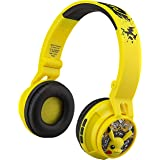 Pokemon Kids Bluetooth Headphones, Wireless Headphones with Microphone Includes Aux Cord, Volume Reduced Kids Foldable Headph