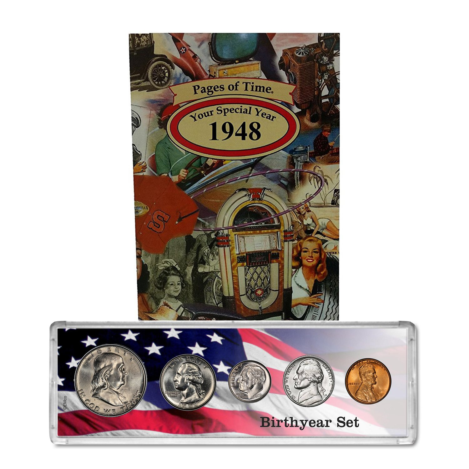 1948 Year Coin Set & Greeting Card : 71st Birthday Gift - Birthyear Set by Coins4Me
