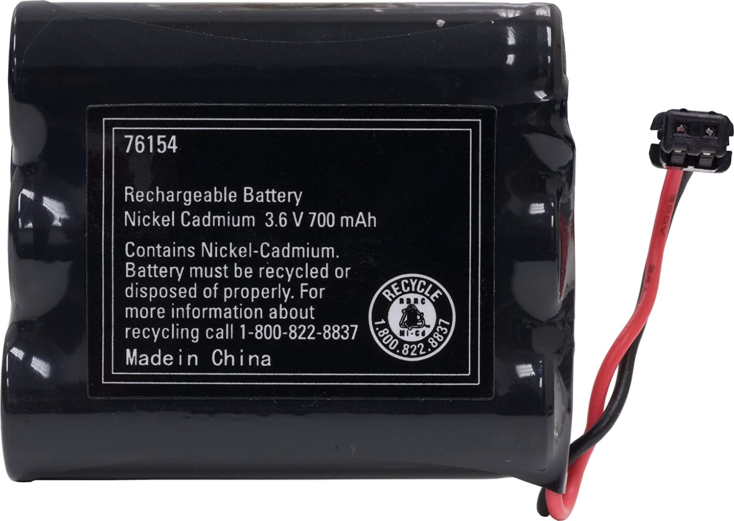 Power Gear Cordless Phone Rechargeable NiCad Battery, 3.6V 700mAh Battery Pack, Cordless Phone Handset Compatible, 76154 Jasco Products Company LLC