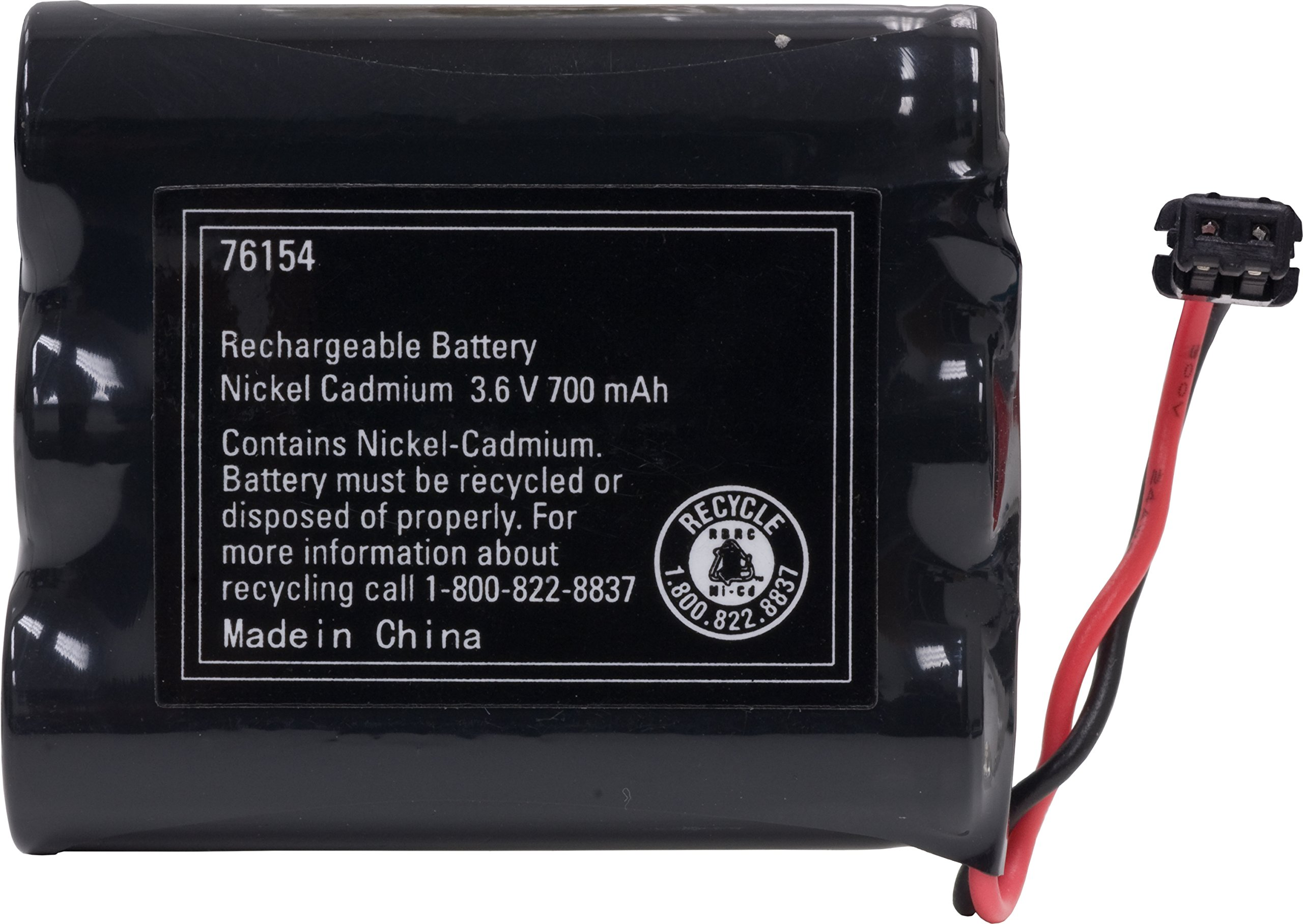 Power Gear Cordless Phone Rechargeable NiCad Battery, 3.6V 700mAh Battery Pack, Cordless Phone Handset Compatible, 76154