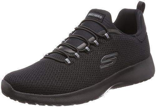 eec752d1252f Skechers Men s Slip On Bungee Laced Sporty Comfort Training Sneaker In  Black In UK 5.5 (