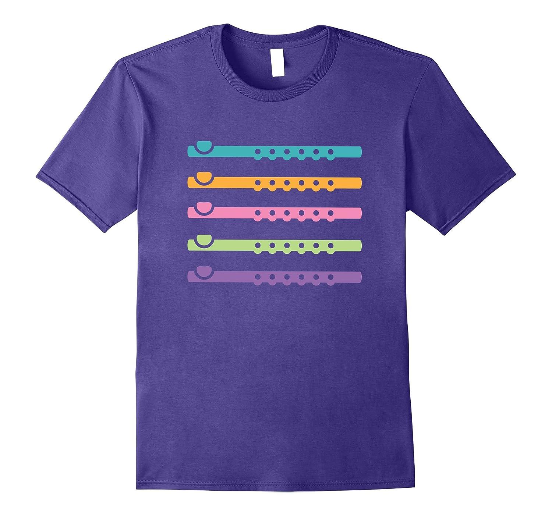 Flute Music T-shirt Cute Flutist Marching Band Tee