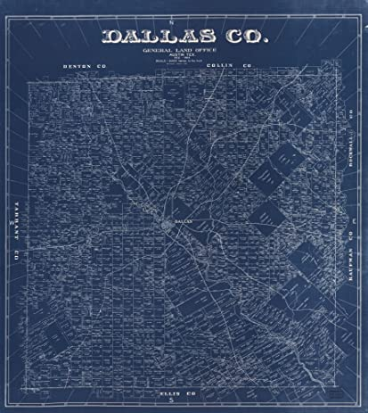 Amazon vintage 1884 map of dallas co texas shows land vintage 1884 map of dallas co texas shows land ownership malvernweather Image collections