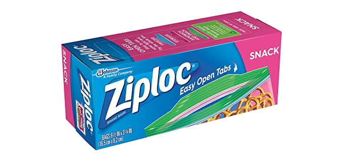 Amazon.com: Ziploc Easy Open Snack Bags, Value Pack (240 Bags): Health & Personal Care