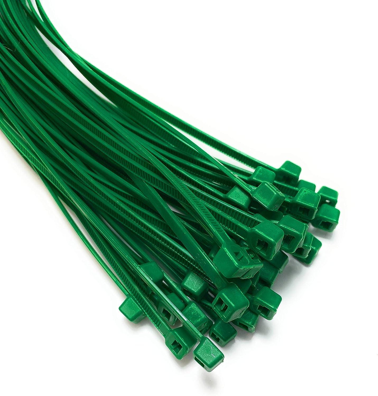 Grün Kabelbinder Extra Lange Krawatten 9mm X 530mm Schwerlast Zip 20 Stück Beleuchtung