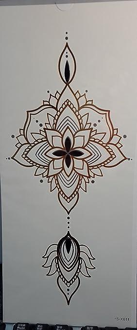 ggsell Tempo rary Tatuajes para mujeres pecho Diseño de flores ...